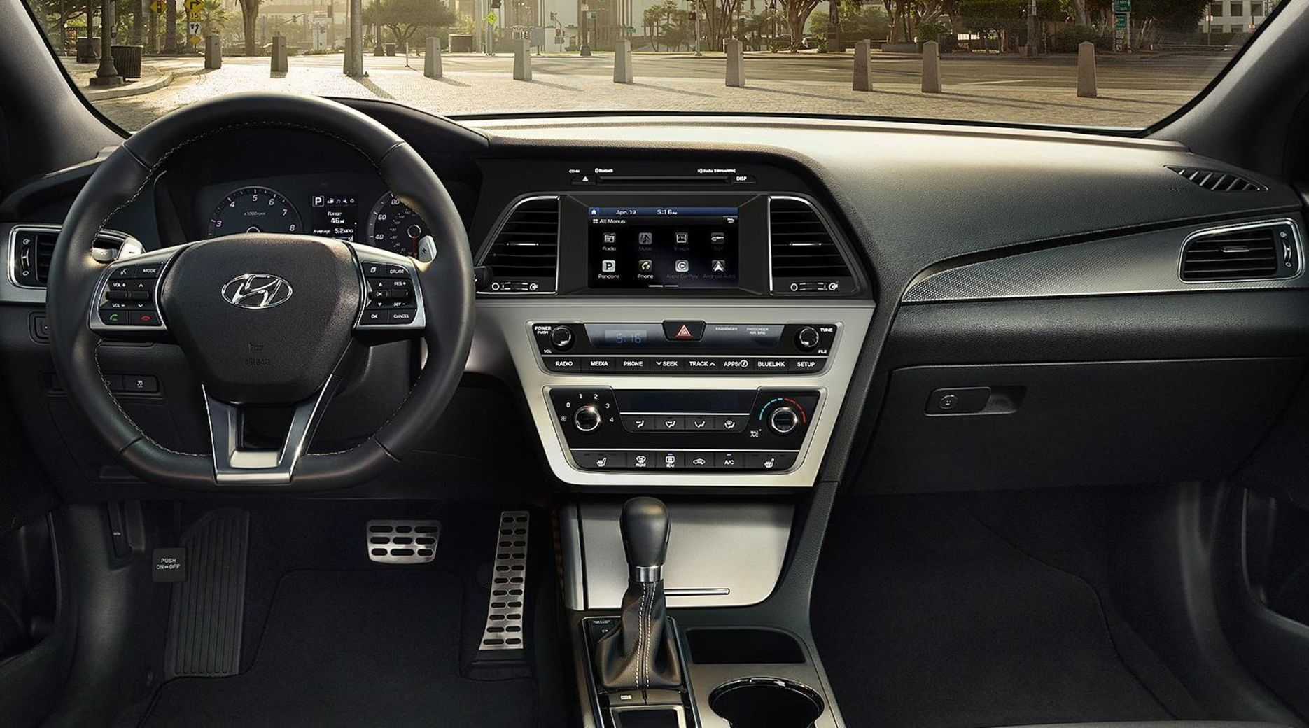 Cabin of the Hyundai Sonata