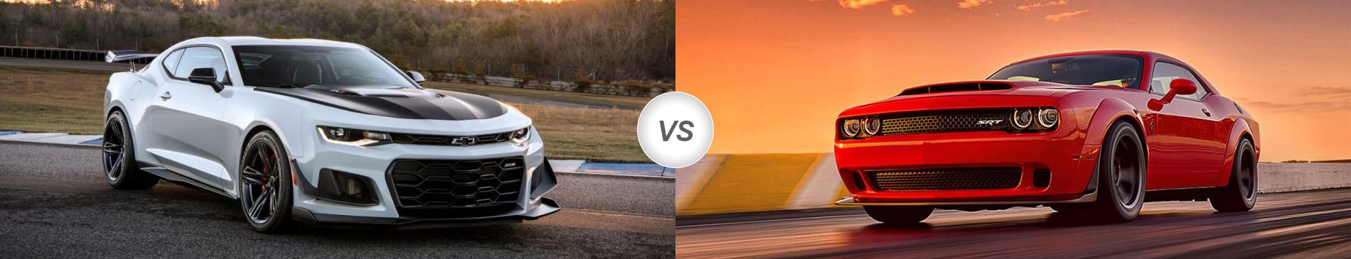 2018 Chevy Camaro Zl1 1le Vs 2018 Dodge Challenger Demon Compare