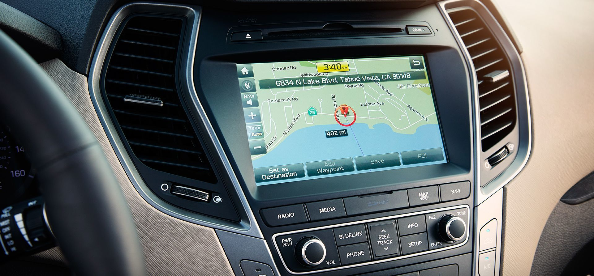 2017 Santa Fe Sport with 8-inch Touchscreen Navigation System