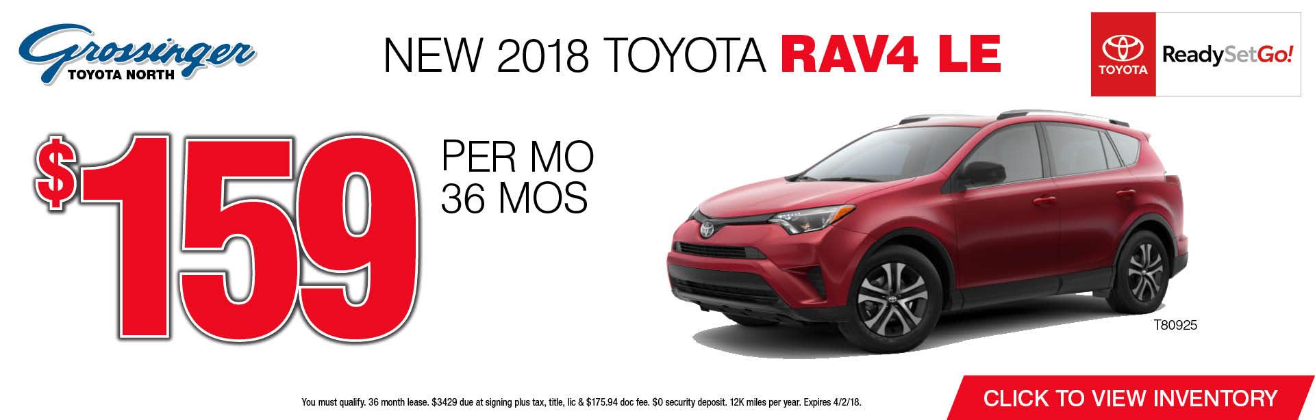 2018 Toyota RAV4 Special | Lincolnwood, IL Toyota Specials