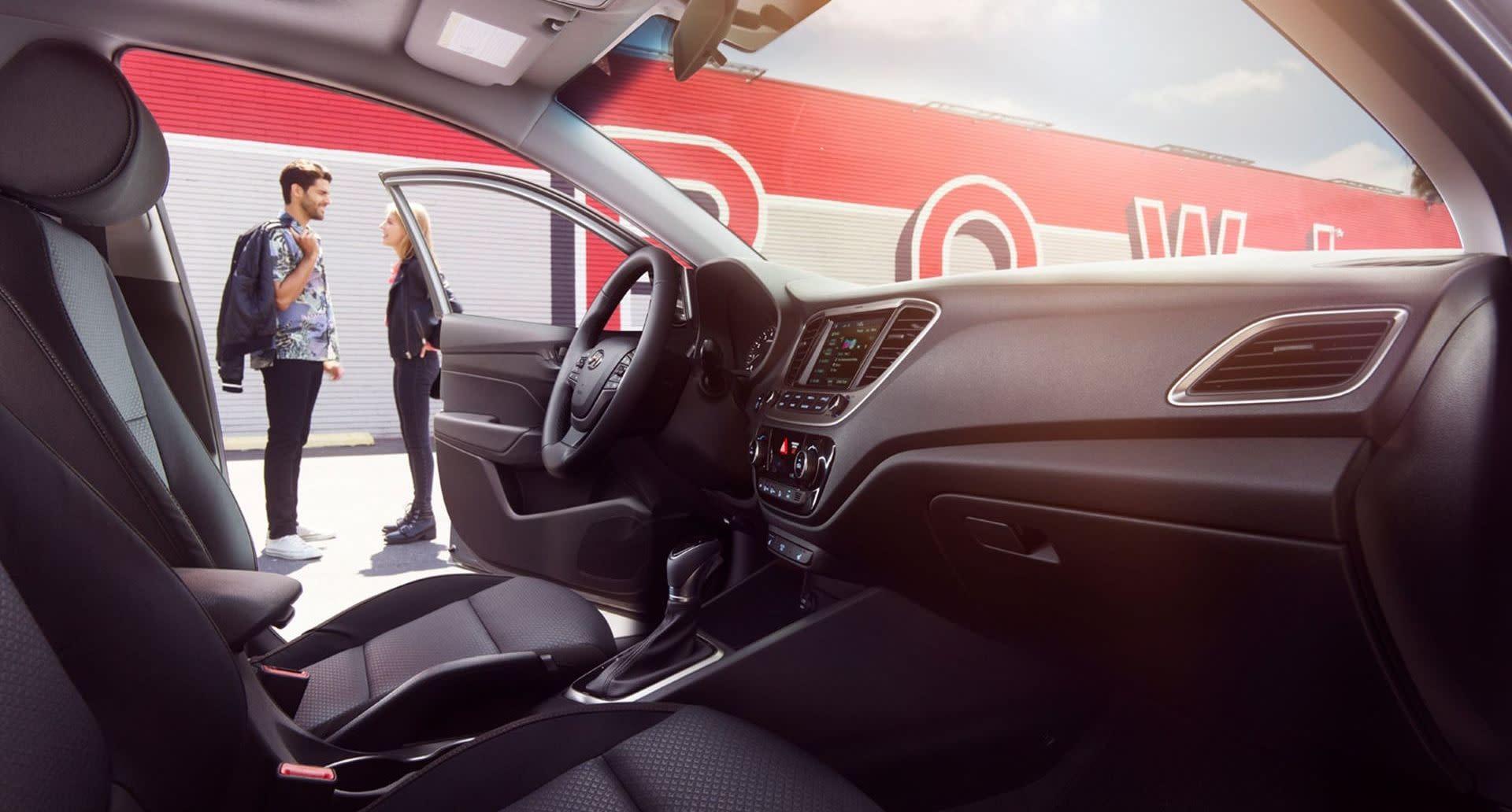 Interior of the Hyundai Accent