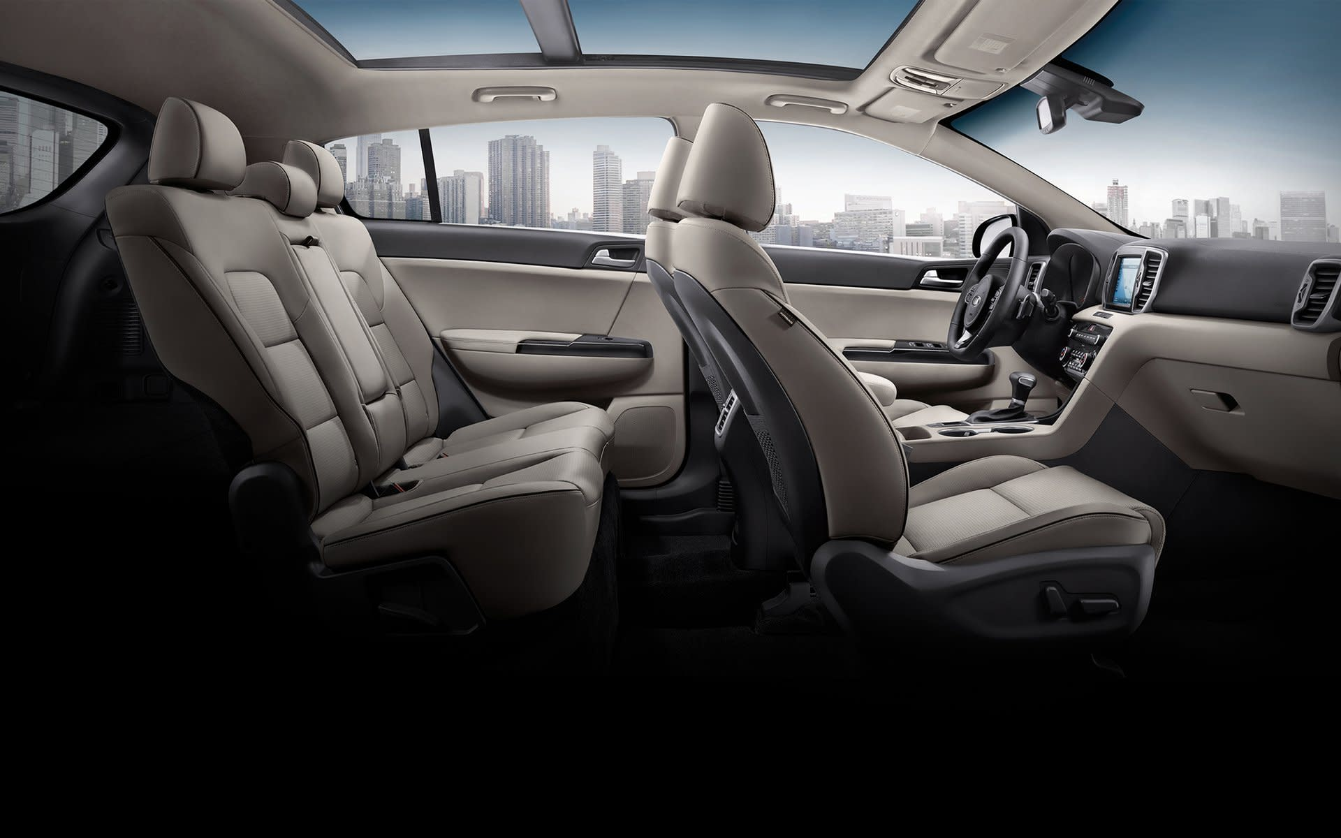 Cómodo interior del Kia Sportage SX Turbo 2019