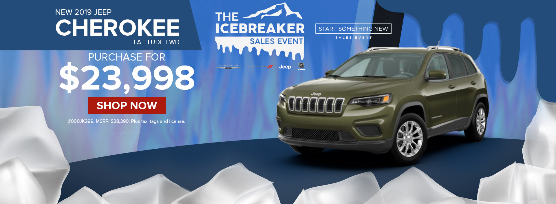 Best deal on a 2019 Jeep Cherokee at Norristown Jeep