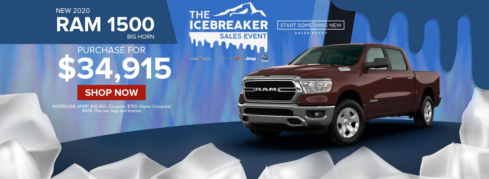 Best deal on a 2020 Ram 1500 truck at Norristown Ram