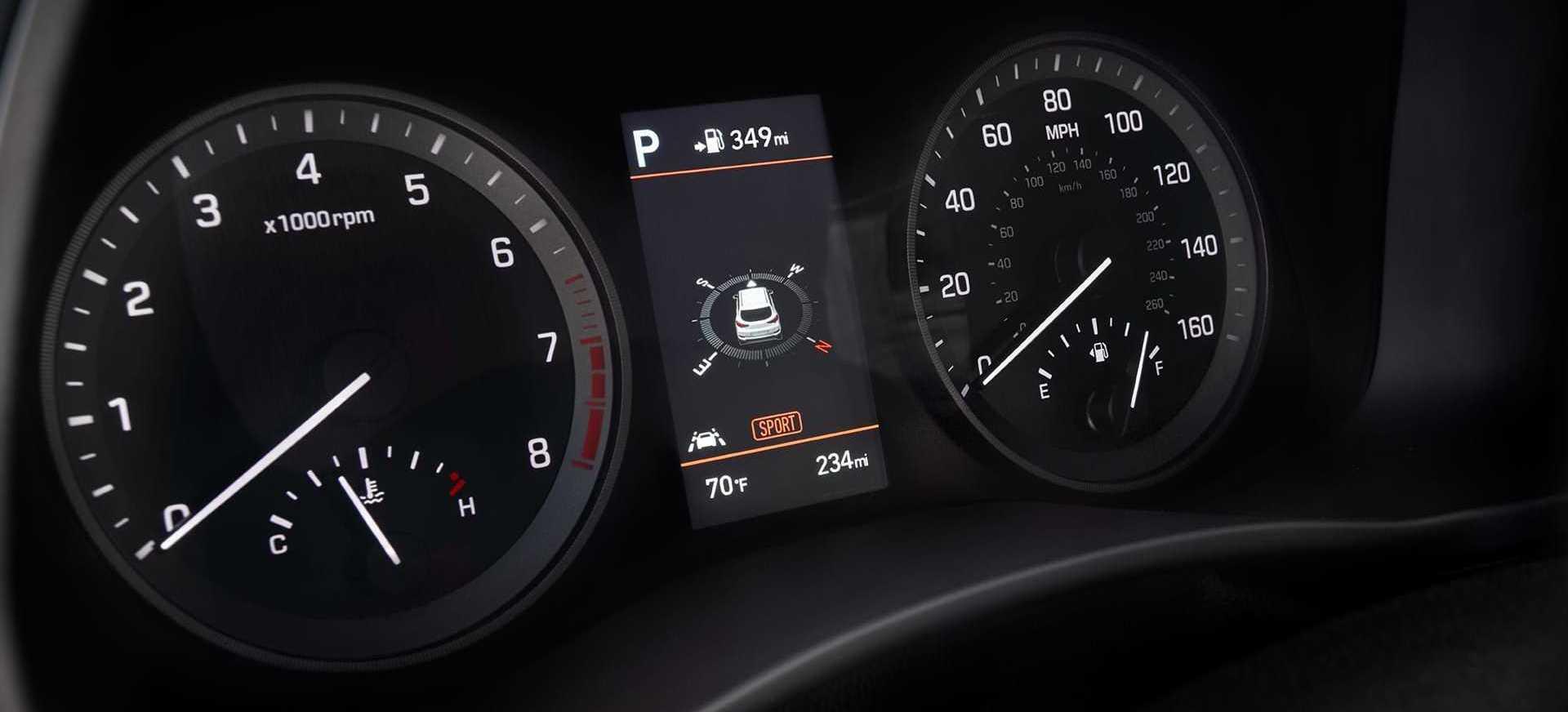 2020 Hyundai Tucson Information Display