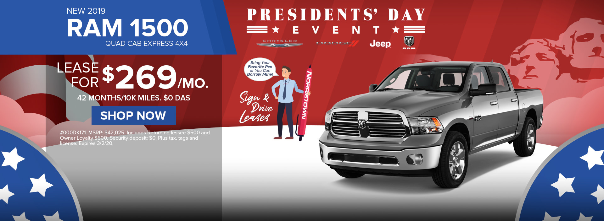 Ram 1500 Sign and Drive Lease