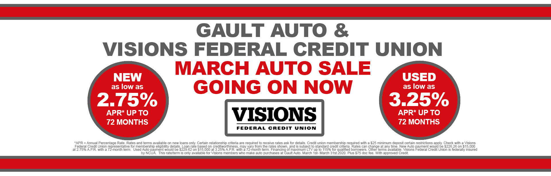 Visions Auto Rate Event
