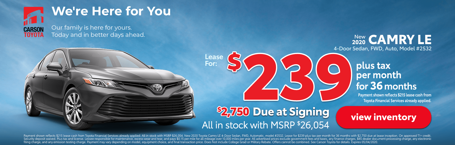 Camry LE Deal
