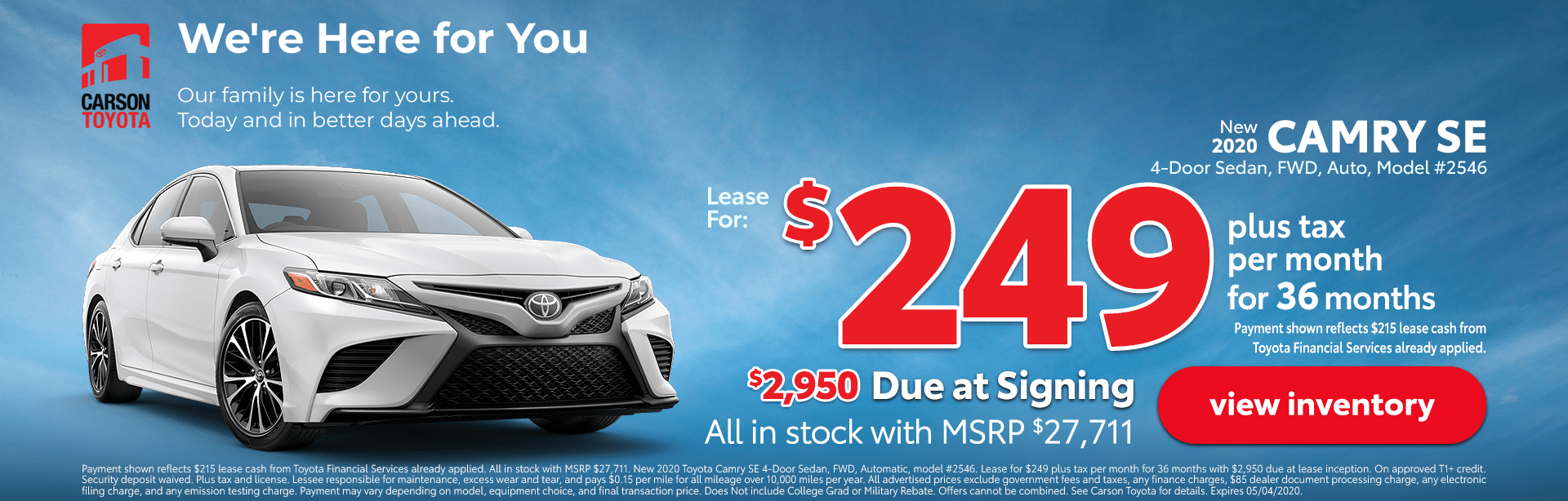 Camry SE Deal