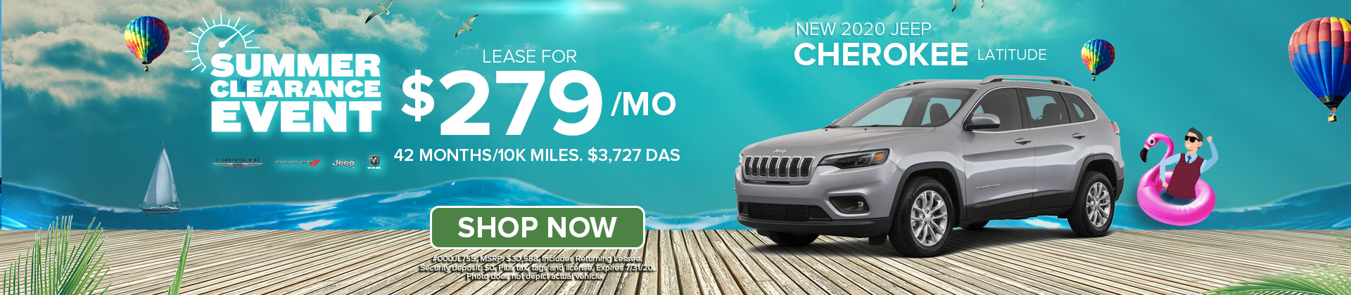 Lease a 2020 Jeep Cherokee