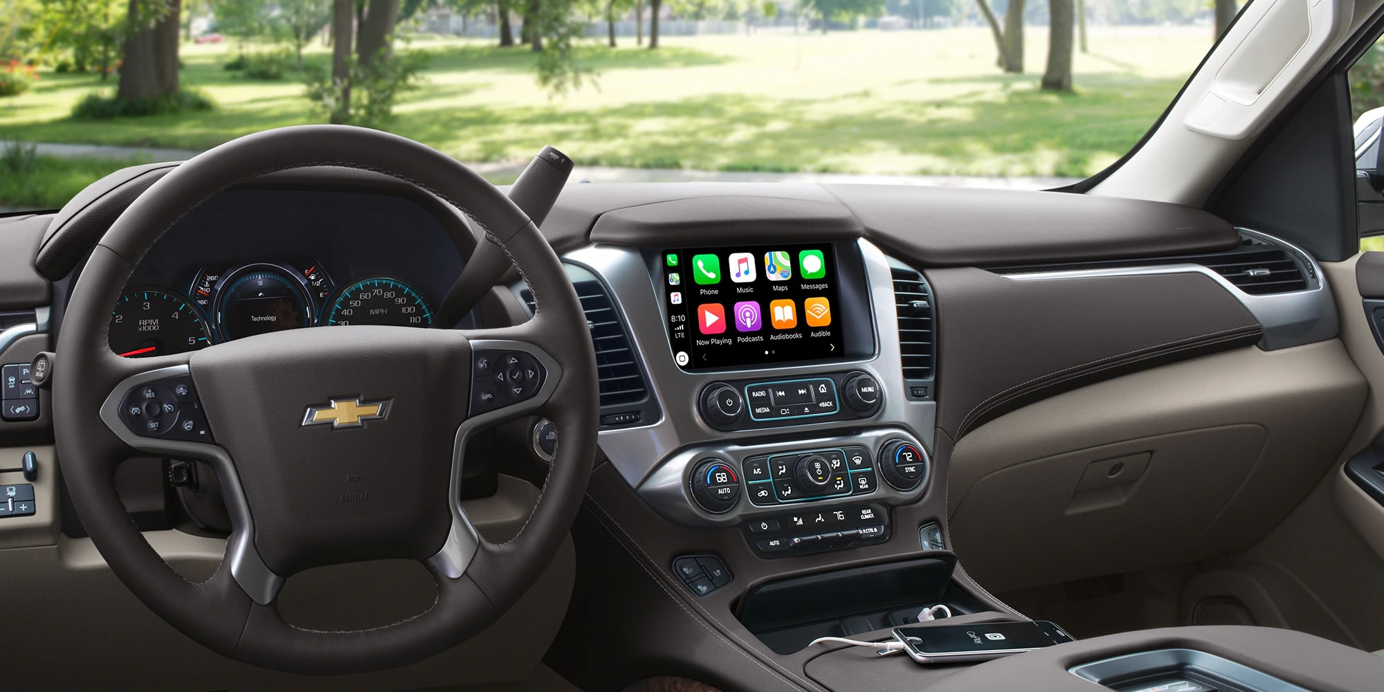 Integración Apple CarPlay disponible en la Chevy Tahoe 2019