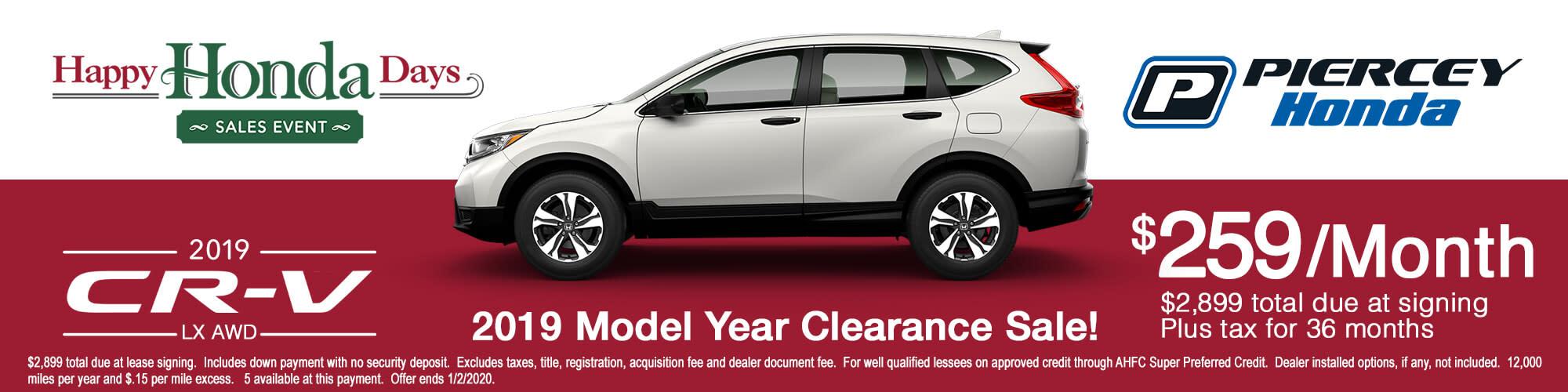 2019 Honda CR-V LX AWD Lease Offer
