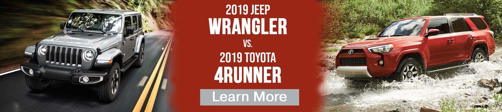 2019 Jeep Wrangler vs 2019 Toyota 4Runner