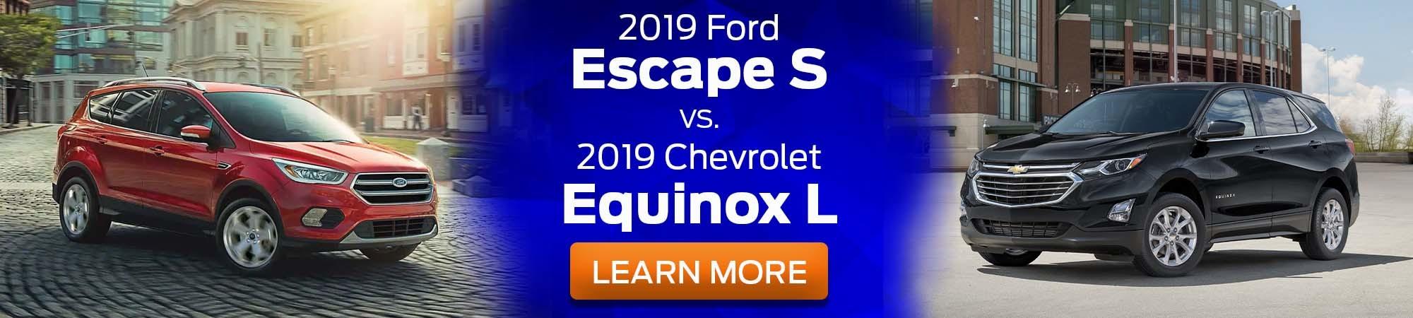 2019 Ford Escape S v 2019 Chevrolet Equinox L