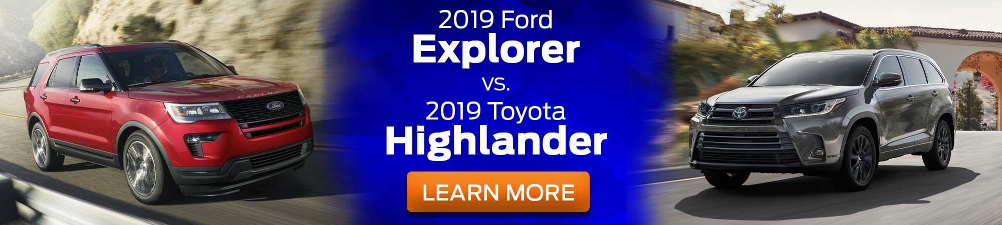 2019 Ford Explorer v 2019 Toyota Highlander