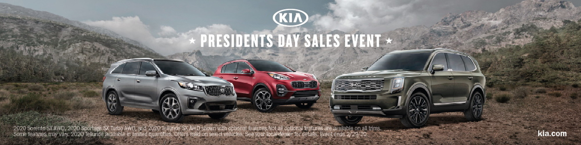 2020 Kia Presidents Day Car Sales Event