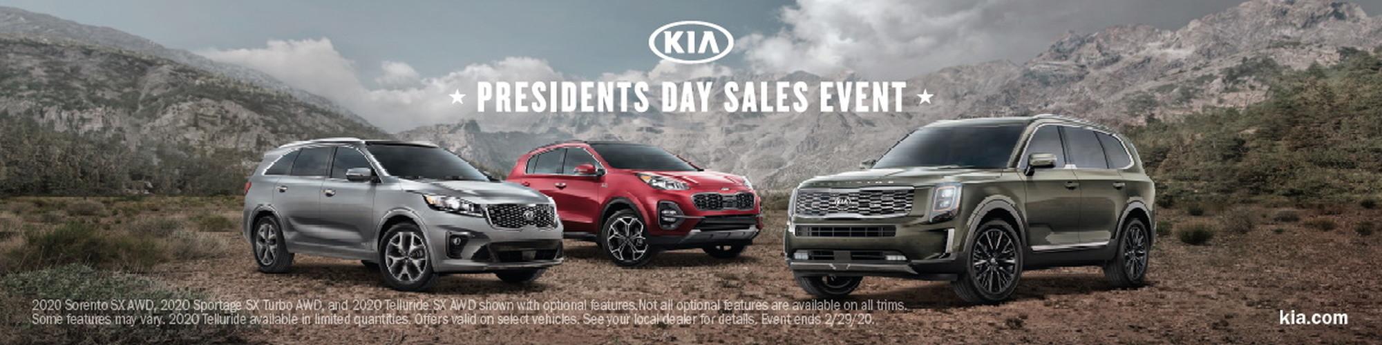 2020 Kia Presidents Day Sales Event