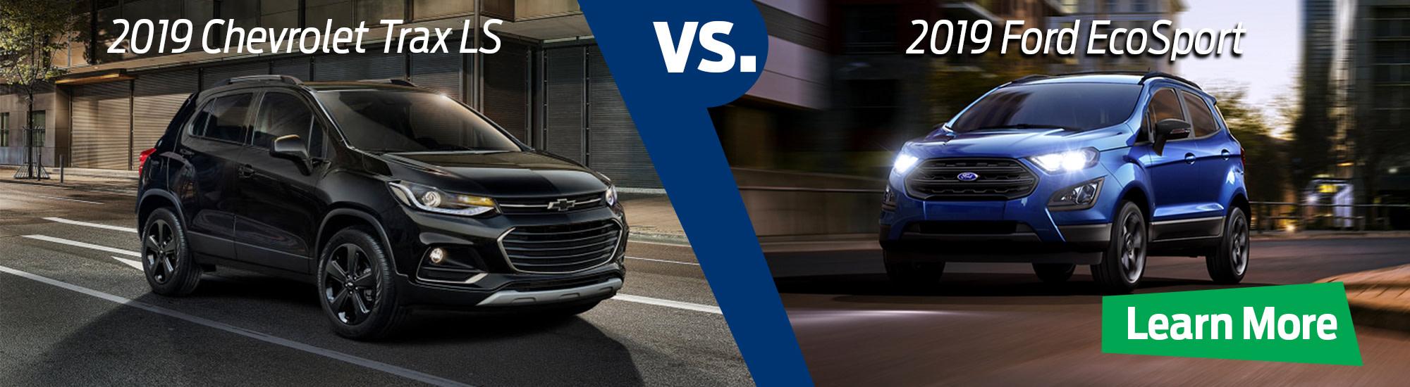 2019 Ford EcoSport S v 2019 Chevrolet Trax LS