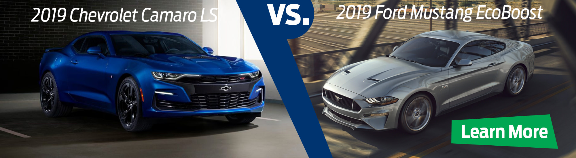 2019 Ford Mustang EcoBoost Convertible v 2019 Chevrolet Camero LS