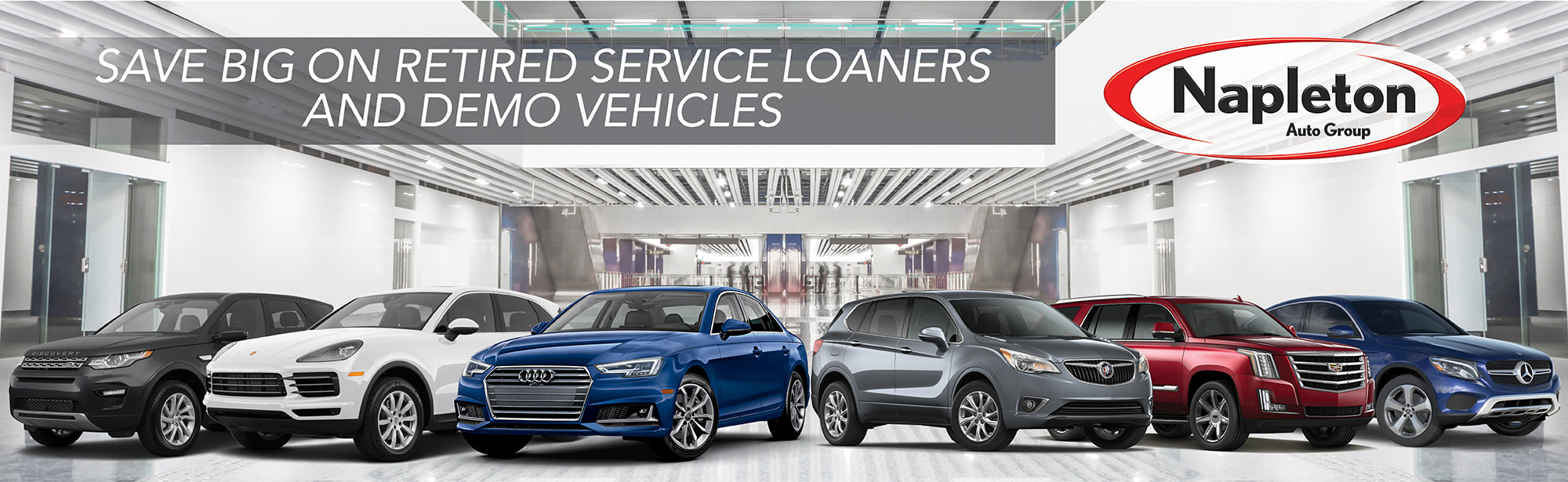 Save Big on Retired Service Loaners and Demo Vehicles