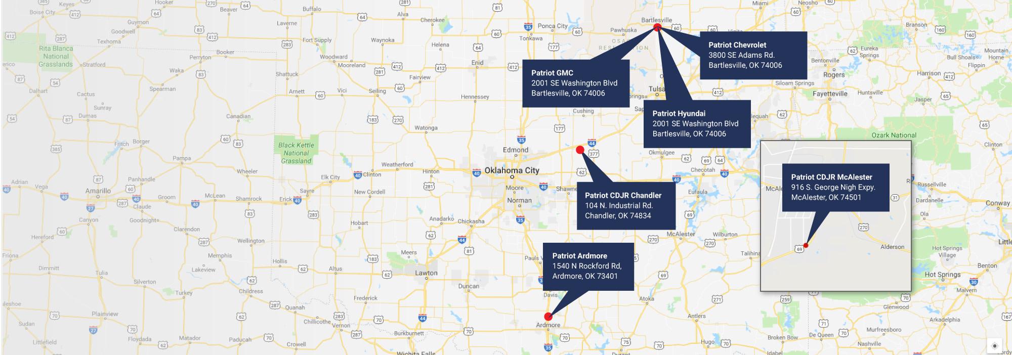 Patriot Auto Group Locations