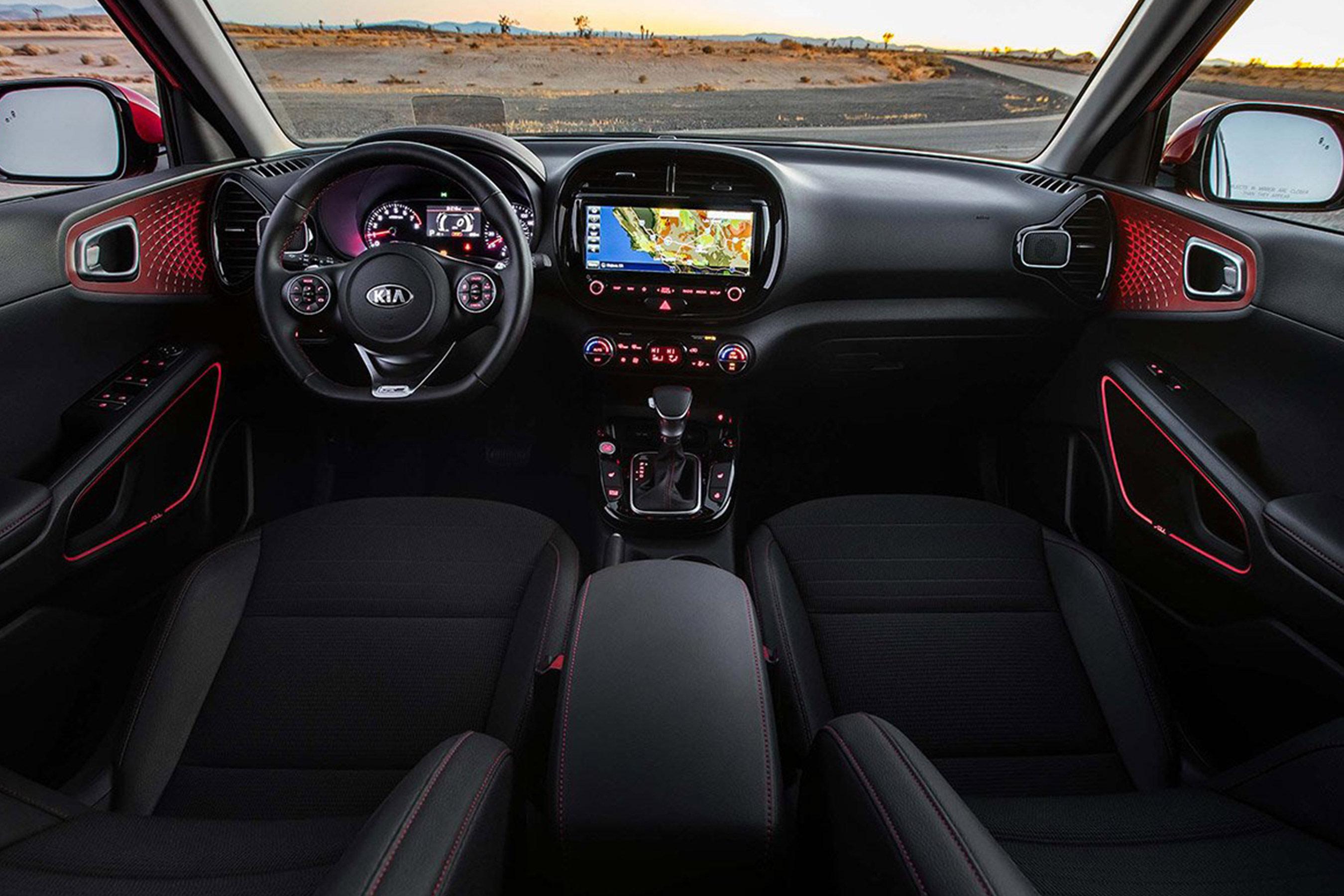 Interior of the 2020 Kia Soul
