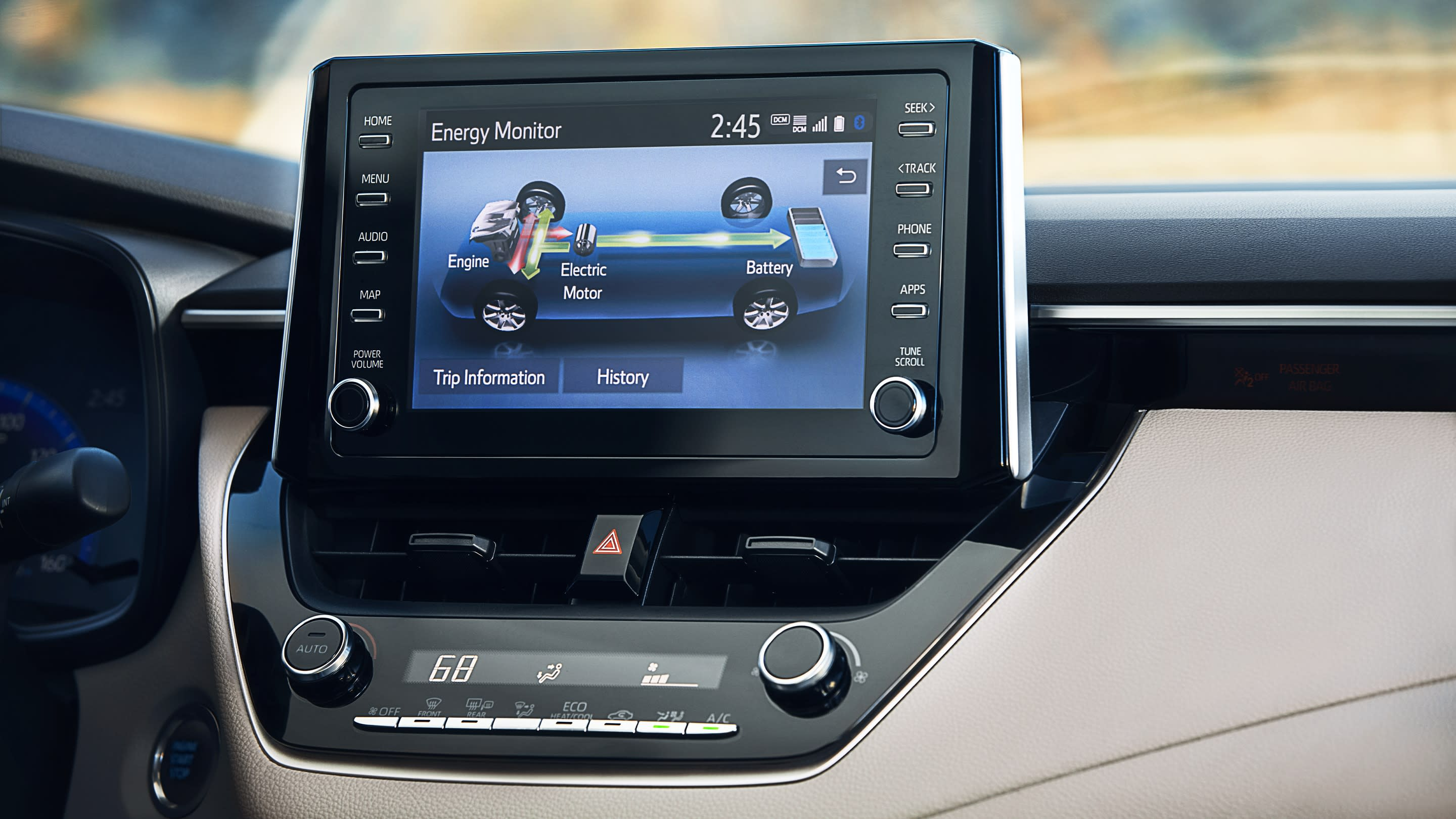 Touchscreen in the Corolla Hybrid