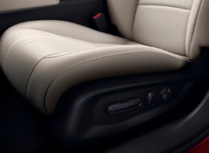 Power-adjustable front seats