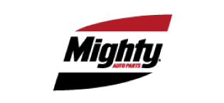 Mighty Auto Parts logo.