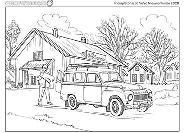 Kleurplaat Volvo PV455 P210