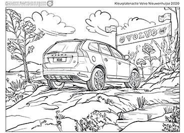 Kleurplaat Volvo XC60