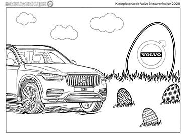 Kleurplaat Volvo XC90 Pasen