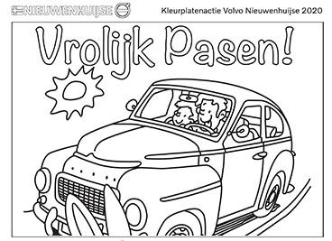 Kleurplaat Volvo Pasen