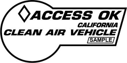 Clean Air Vehicle Decals - Honda Of Pasadena