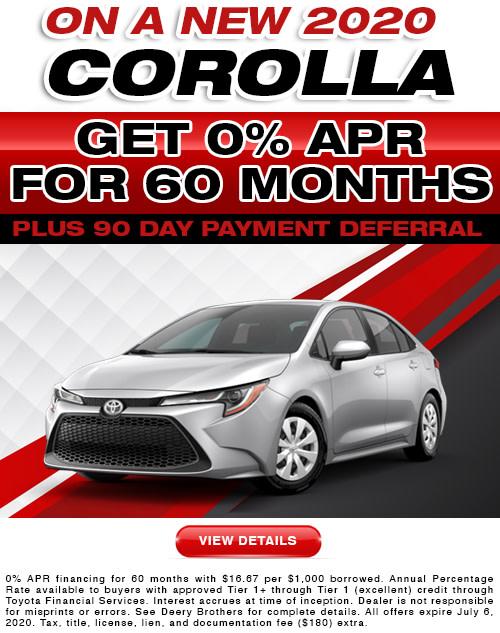 Corolla APR offer