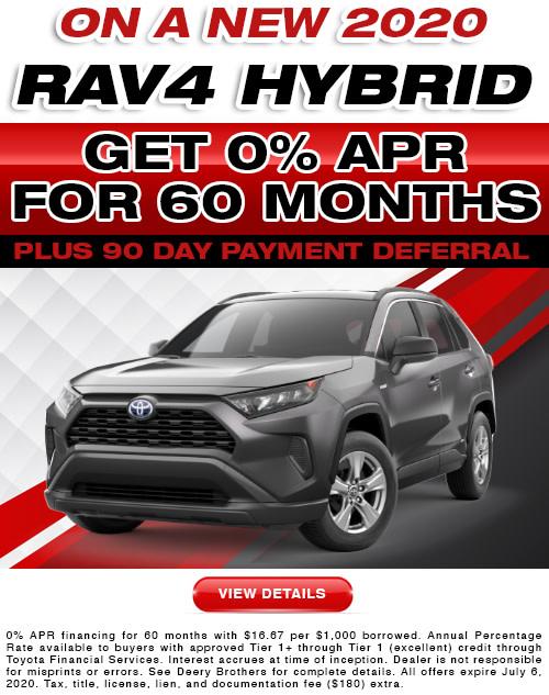 Rav4 Hybrid APR offer