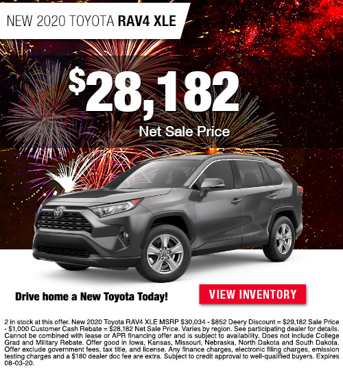 $28,182 Purchase Offer On A New 2020 Toyota RAV4 XLE