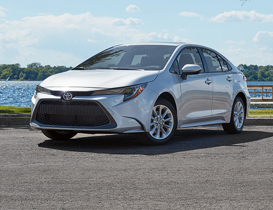 Model Features of the 2020 Toyota Corolla at Tri County Toyota in Royersford | Front view of the 2020 corolla