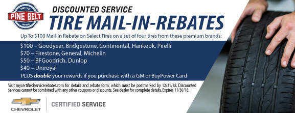 Pine Belt Chevy Service Coupons ...