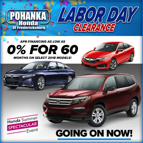 Honda Dealership Fredericksburg VA New Used Cars Near Washington DC Pohanka Of
