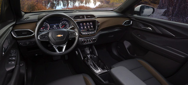 Interior of the 2021 Chevrolet Trailblazer