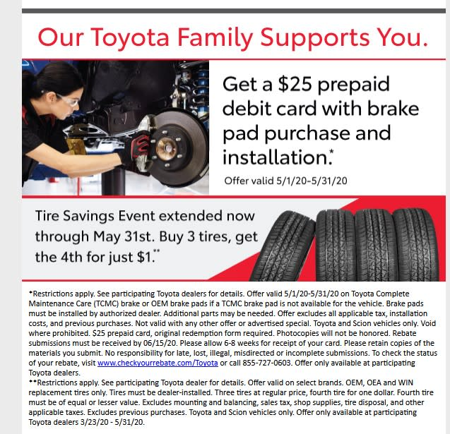 Toyota Service Coupon