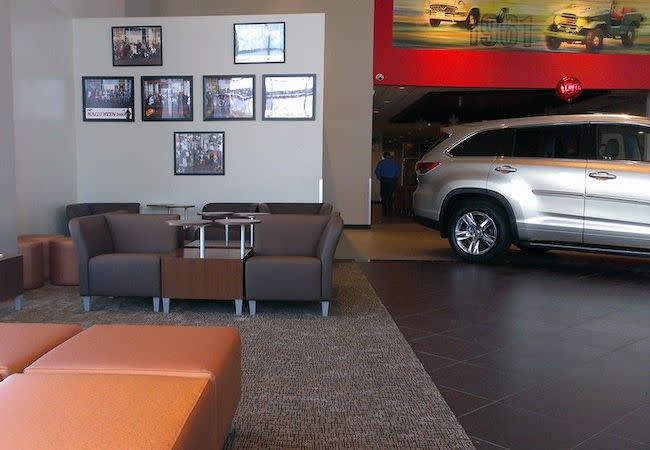 Pappas Toyota Show Area