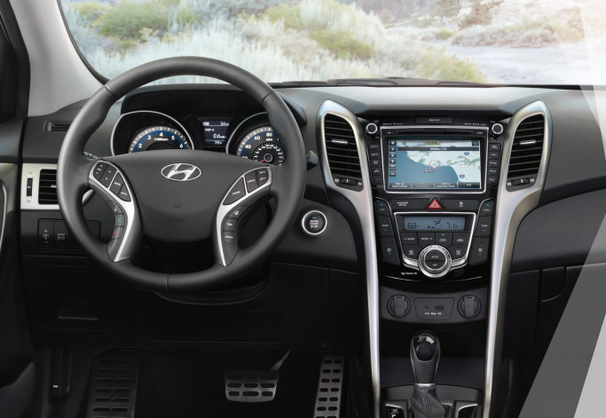 Interior of the 2016 Hyundai Elantra