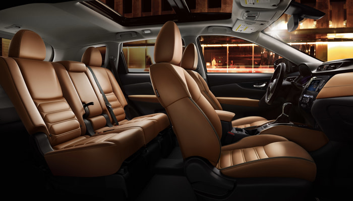 The spacious interior of the 2019 Nissan Rogue