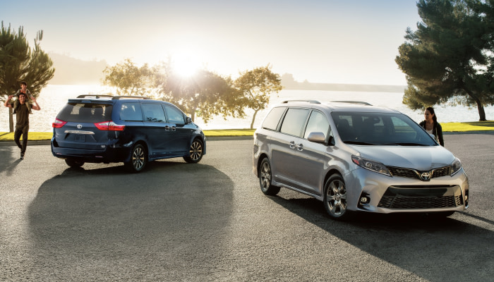 The sleek exterior of the 2019 Toyota Sienna