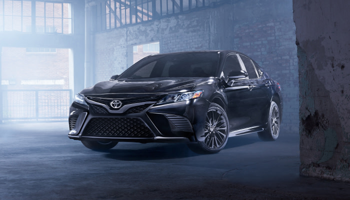 The sleek exterior of the 2019 Toyota Camry