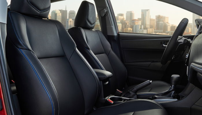The spacious interior of the 2019 Toyota Corolla available at Uebelhor Toyota near French Lick, IN