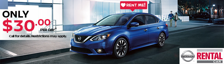 Nissan Sentra Sedan Rental $30 a day