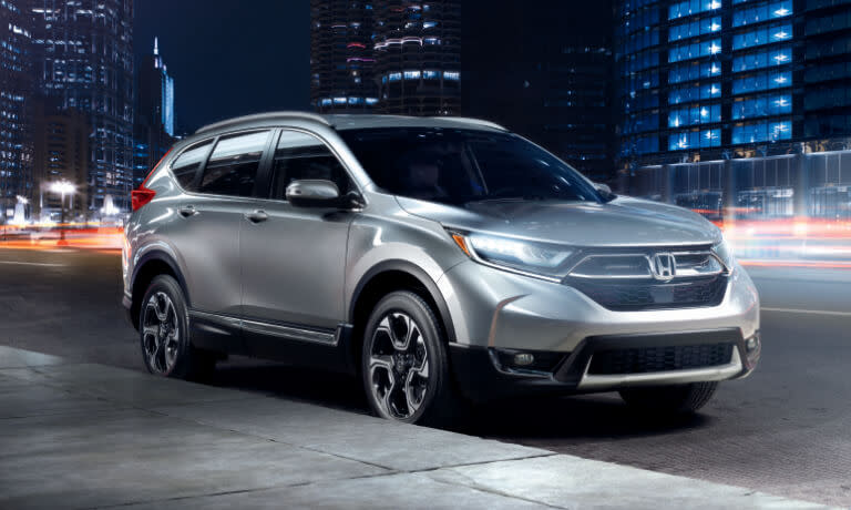 2019 Honda CR-V exterior downtown at night